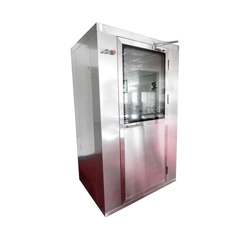 Stainless steel high efficiency cleanroom air shower with three side blowing