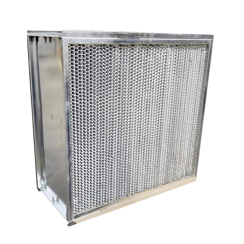 Aluminum Clapboard HEPA air filter with Flanger
