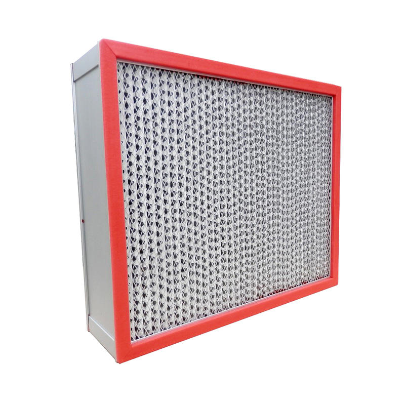 250℃ High Temperature HEPA Air Filter With Alu Frame
