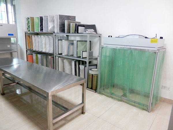 Air Filter Sample Show Room