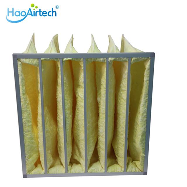 Glass Fibre Bag Ashare Air Filter With Aluminum Frame