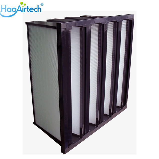 V Cell Type Ashare Air Filter With 4V ABS Frame