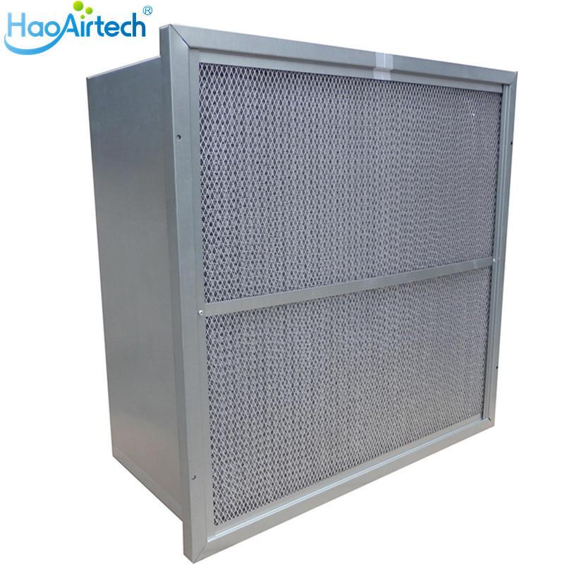 Rigid Box  Ashare Air Filter With GL Interlocker Frame