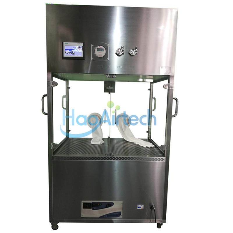 Vertical laminar flow transport cart for Pharmaceutical cleanroom