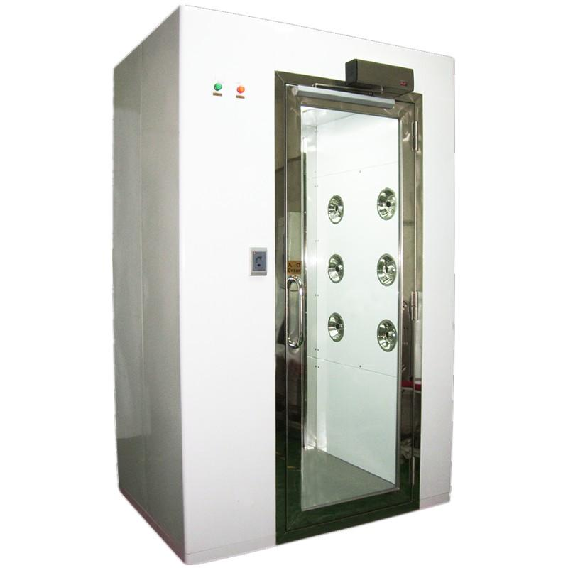 High Efficiency Clean Room Air Shower With 90 Degree Automatic Swing Door