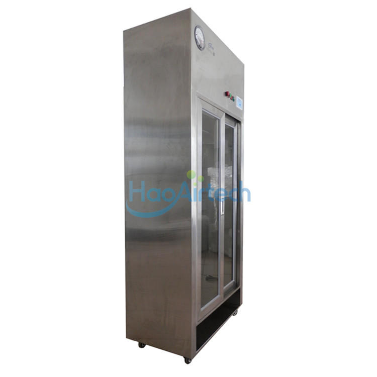Cleanroom Lamianr Flow Garment Storage Cabinet For Coveralls