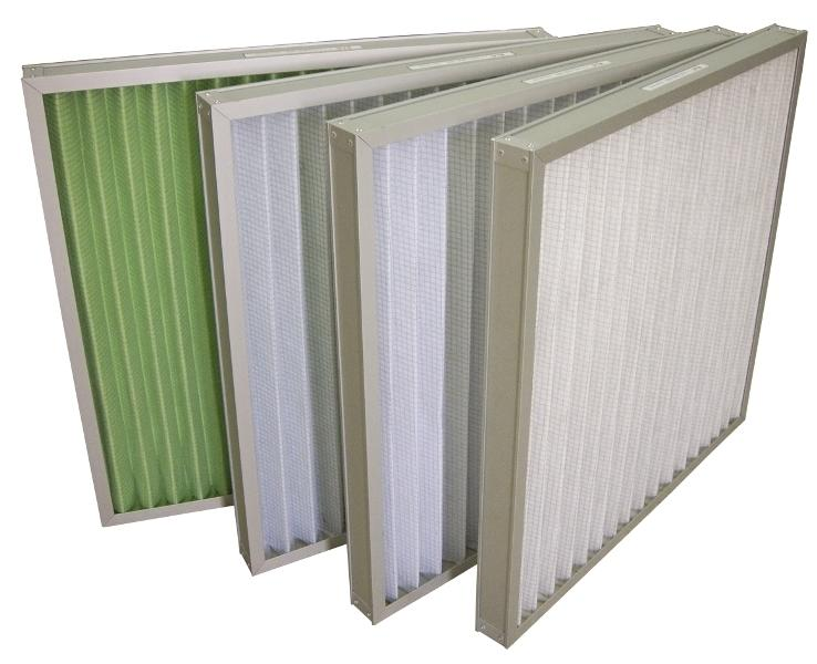 Pleated Primary Air Filter With Metal Frame