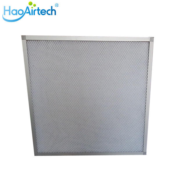 Flat type Panel Air Filter With  Aluminum Frame