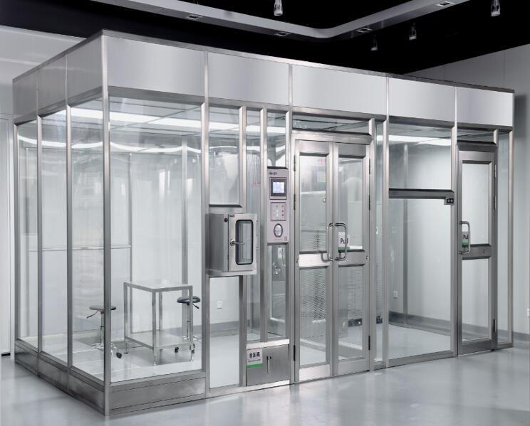 Class100 high efficiency hard wall modular cleanroom  for semiconductor factory