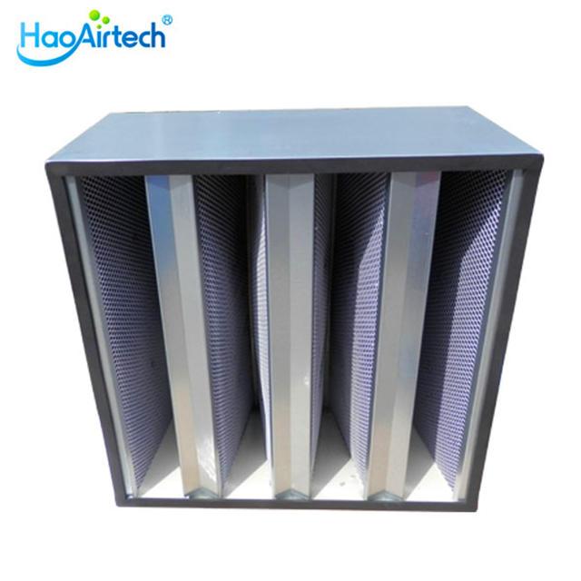 V Bank Active Carbon Air Filter with Granular carbon