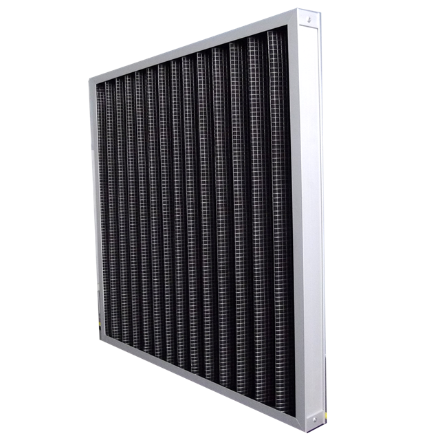 Pleats Type Active Carbon Air Filter With Big Air Volume
