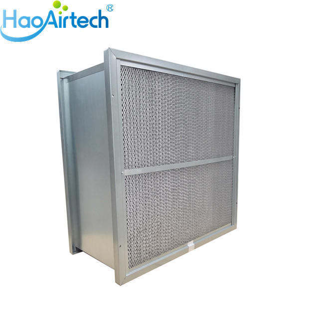 Secondary Rigid Box Air Filter With Two Side Flang