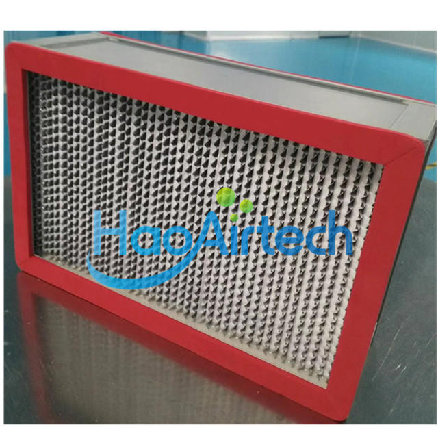 250 Degree High Temperature HEPA Filter With Red Color Gasket