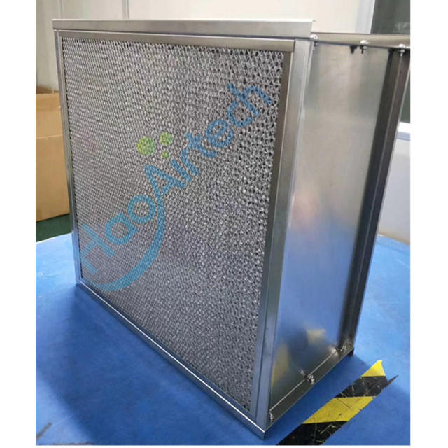 AAF type Absolute HEPA filter with  External Toward Flanging