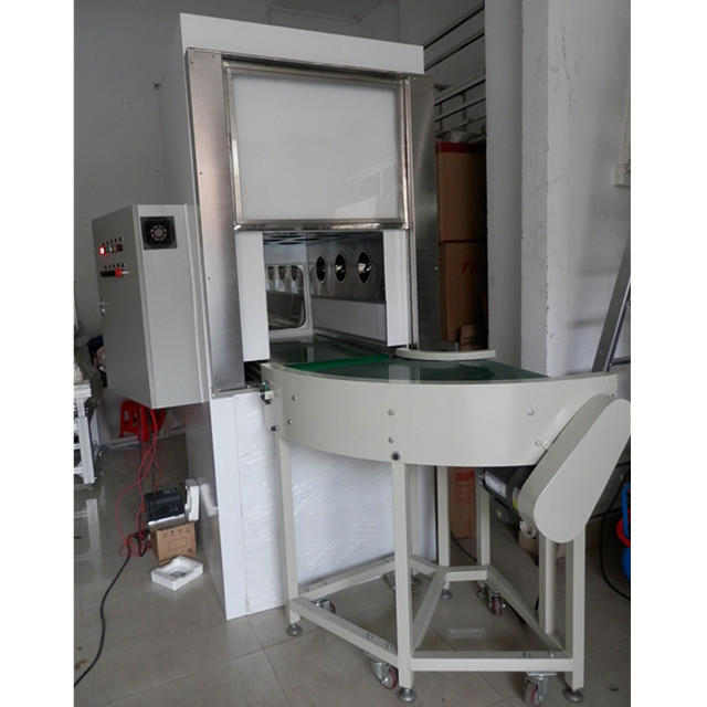 PLC control air shower pass box with conveyor line