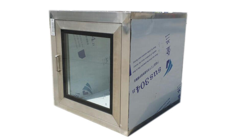 Custom static pass box for cleanroom