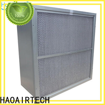 HAOAIRTECH secondary v rigid filter with big air volume for industry