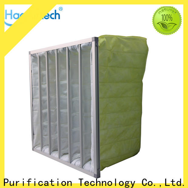 HAOAIRTECH pocket air filter with multi pocket for central air conditioning ventilation system