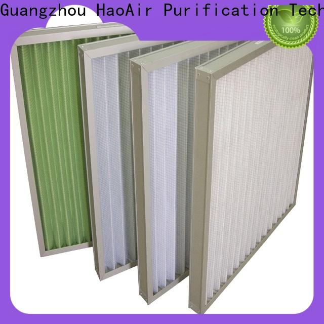 HAOAIRTECH air Pleated Air Filter with metal frame for central air conditioning and centralized ventilation system