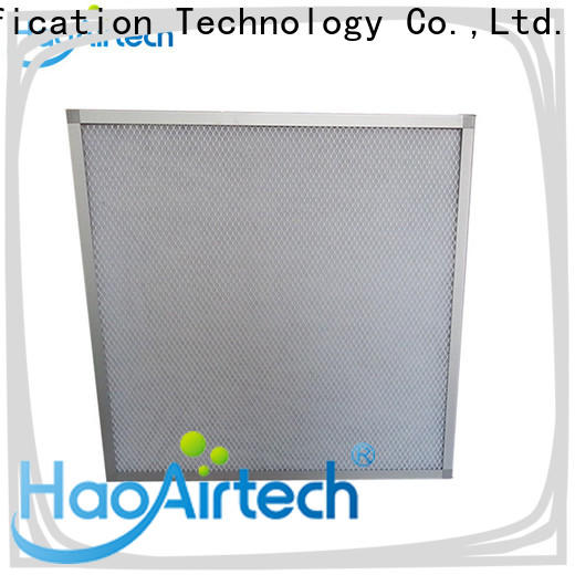 efficient panel air filter with mesh protection and fixed filter material for centralized ventilation systems