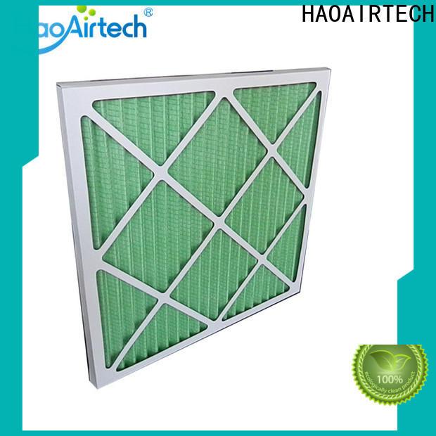 HAOAIRTECH Pleated Air Filter supplier for clean return air system