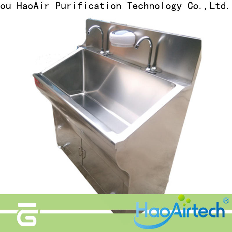 medical surgical scrub sink with mirror for hospital operating room