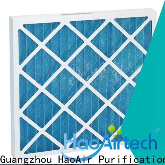 HAOAIRTECH pleated filter with metal frame for clean return air system