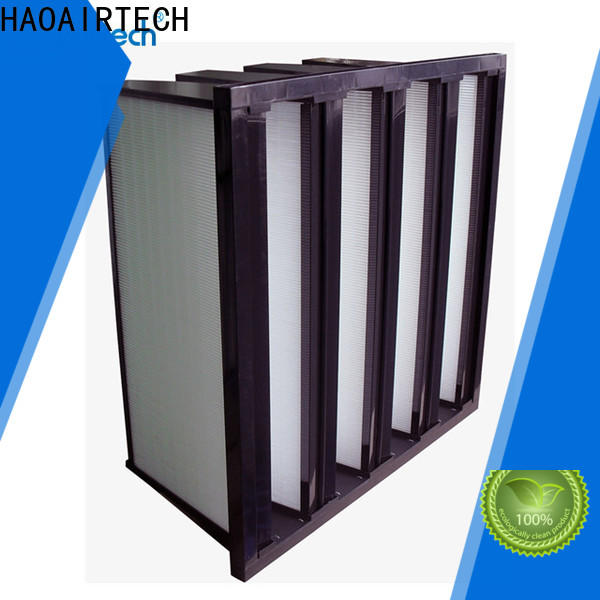 HAOAIRTECH v cell compact rigid filter with big air volume for food and beverage