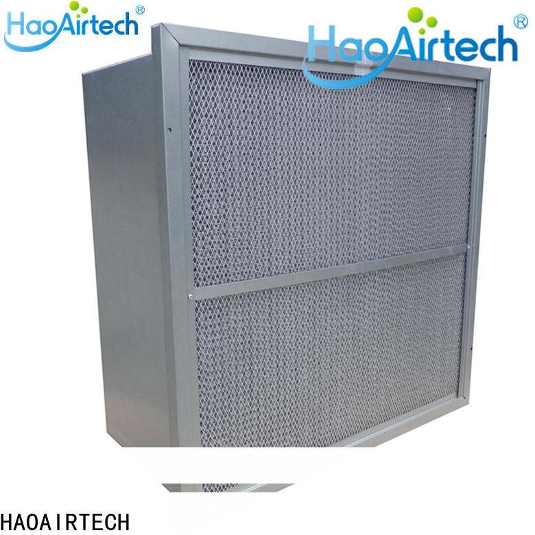 HAOAIRTECH v rigid filter with big air volume for commercial buidings
