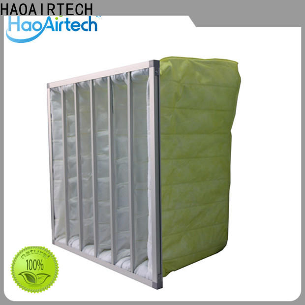 fibre pocket filter with aluminum frame for central air conditioning ventilation system