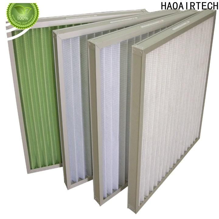 HAOAIRTECH professional Pleated Air Filter with metal frame for central air conditioning and centralized ventilation system