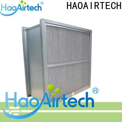 secondary hvac air filters with abs frame for schools and universities