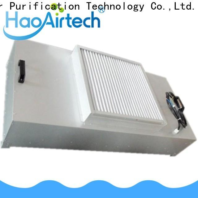 HAOAIRTECH fan hepa filter module with internal fan for for non uniform clean rooms