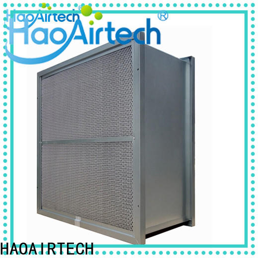 HAOAIRTECH professional high temperature filter with alu frame for filtration pharmaceutical factory
