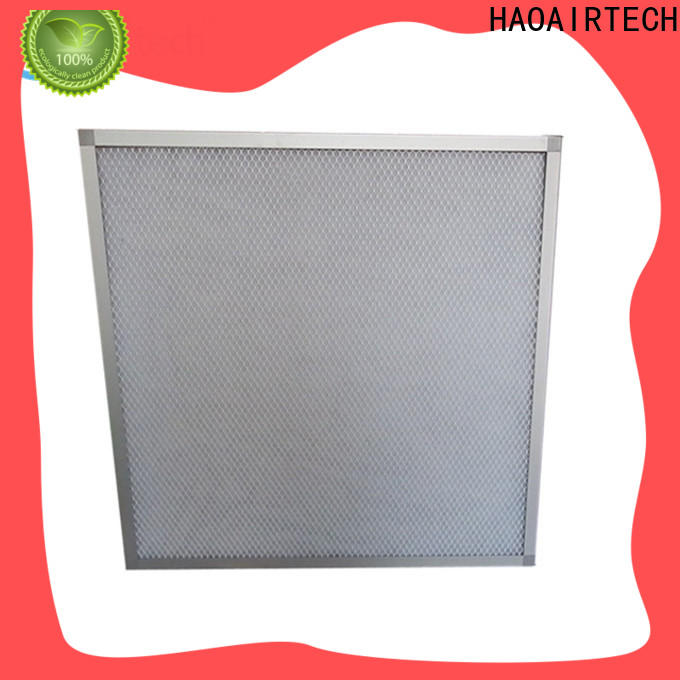 HAOAIRTECH flat panel filter with aluminum frame for centralized ventilation systems