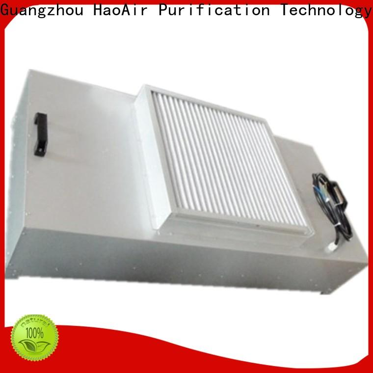 HAOAIRTECH fan hepa filter module with central air conditioning for clean room cell