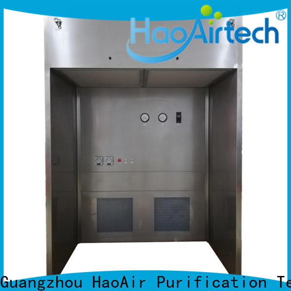 HAOAIRTECH negative pressure downflow booth gmp modular design for pharmaceutical factory