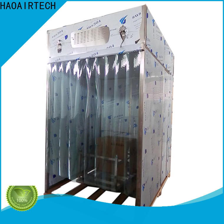 HAOAIRTECH powder dispensing booth with lcd touchable screen display for dust pollution control