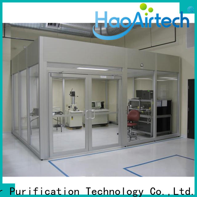 HAOAIRTECH portable portable clean room vertical laminar flow booth for semiconductor factory