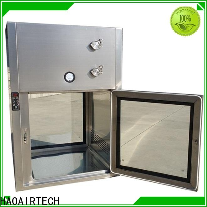 HAOAIRTECH coldrolled steel pass through box embedded lamps for hvac system