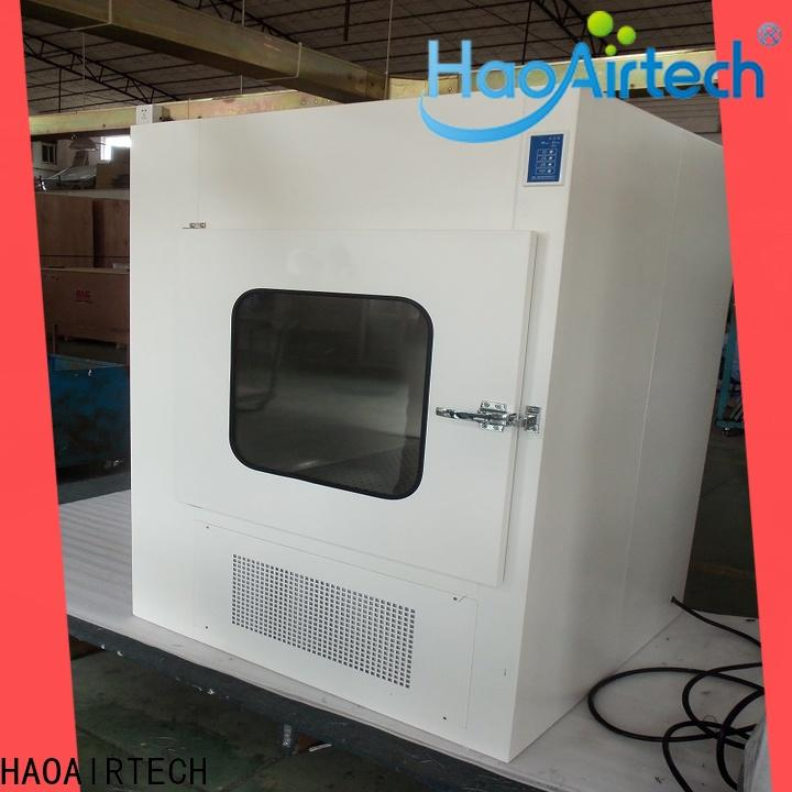 HAOAIRTECH pass box manufacturers with laminar air flow for cargo