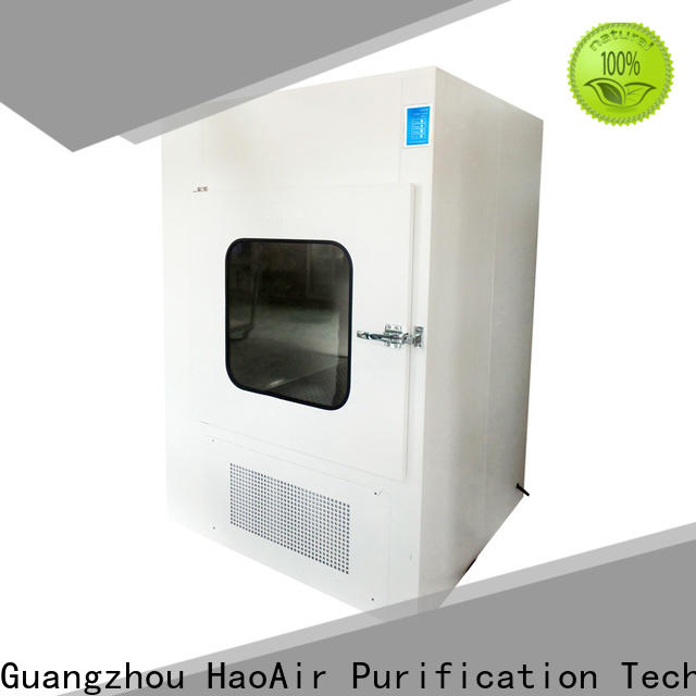 HAOAIRTECH dynamic pass box with baked painting for hospital