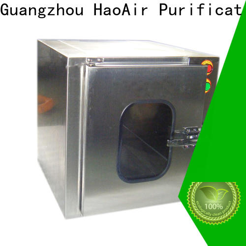 HAOAIRTECH cleanroom pass box with laminar air flow for hvac system