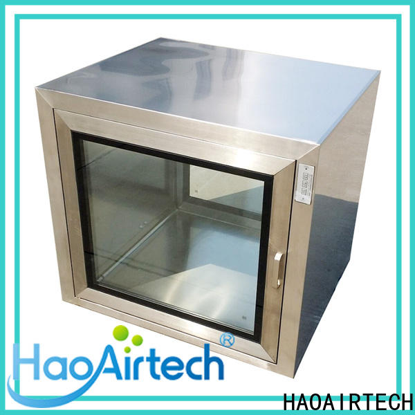 HAOAIRTECH electronic cleanroom pass box with baked painting for hvac system