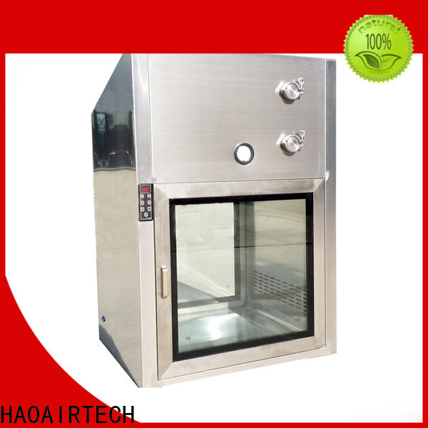 HAOAIRTECH plc control cleanroom pass box with baked painting for clean room purification workshop