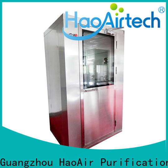 HAOAIRTECH air shower price with automatic swing door for large scale semiconductor factory