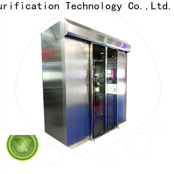 dynamic air shower clean room with automatic swing door for forklift