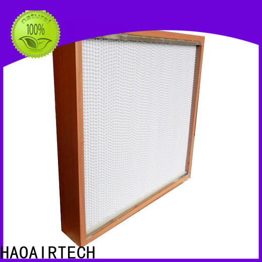 HAOAIRTECH ulpa h12 hepa filter with flanger for air cleaner