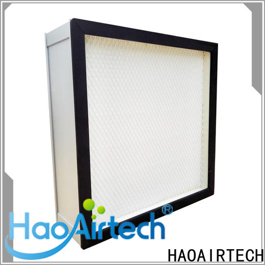 HAOAIRTECH v bank hepa filter h12 with flanger for electronic industry