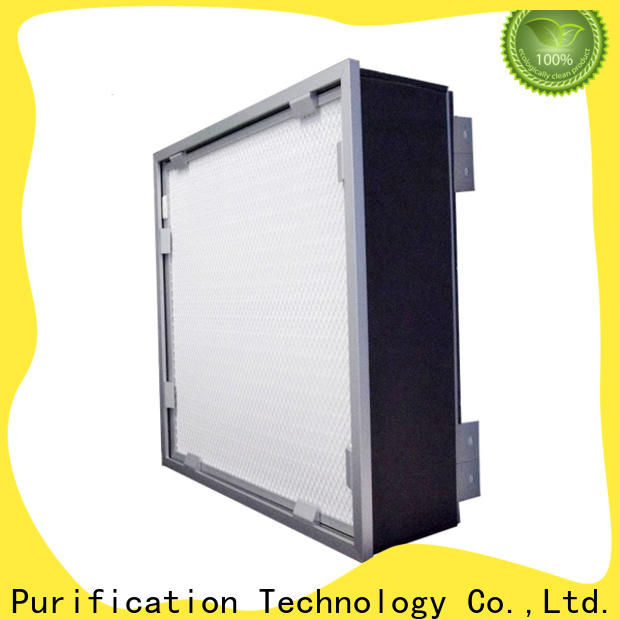 HAOAIRTECH knife edge hepa filter h12 with hood for air cleaner